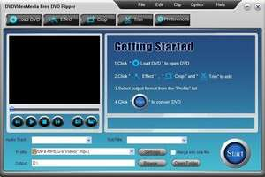 DVDVideoMedia Free DVD Ripper Screenshot