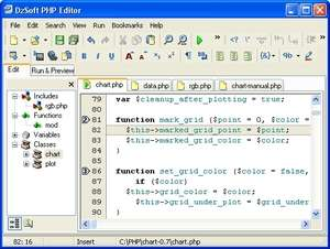 DzSoft PHP Editor Screenshot