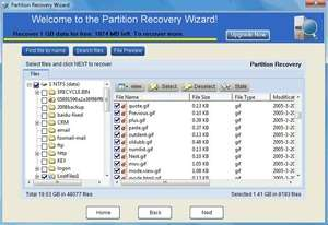EASEUS Partition Recovery Screenshot