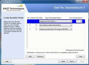 East Tec DisposeSecure Screenshot