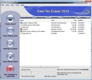 Format tools - Screenshot for East-Tec File Shredder