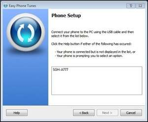 Easy Phone Tunes PC Client Screenshot