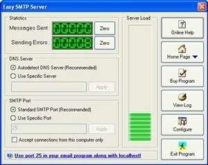 Easy SMTP Server Screenshot