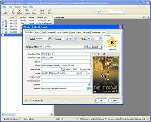 Cataloging Software - Screenshot for Eax Movie Catalog