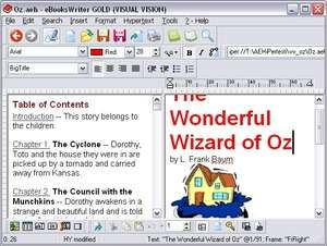 eBooksWriter LITE Screenshot