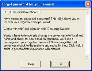 Email Password Recovery (pop3) Screenshot