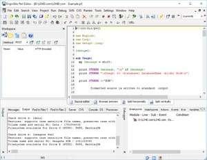 EngInSite Perl Editor Professional Screenshot