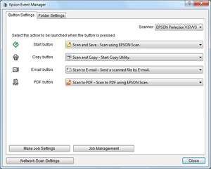 Epson Event Manager Utility Screenshot
