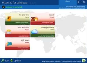 eScan AntiVirus Edition Screenshot