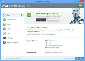 ESET Internet Security (Smart Security) Screenshot