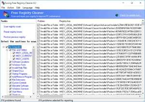Registry Cleaner - Screenshot for Eusing Free Registry Cleaner