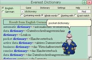 Text to Speech Programs - Screenshot for Everest Dictionary with databases