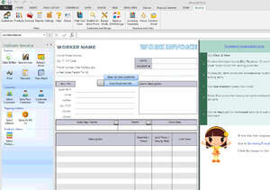 Accounting Software - Screenshot for Excel Invoice Template