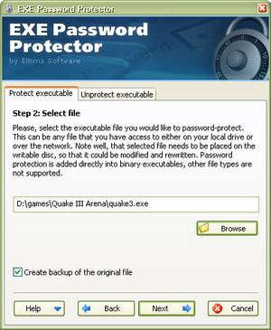 EXE Password Protector Screenshot