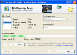 F-Recovery for xD-Picture Card Screenshot