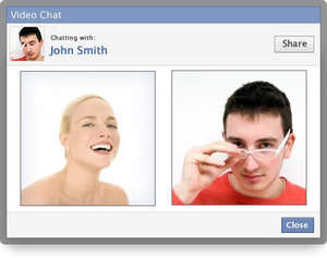 Facebook Video Chat Screenshot