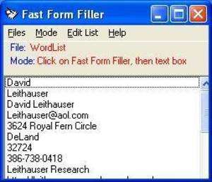 Fast Form Filler Screenshot