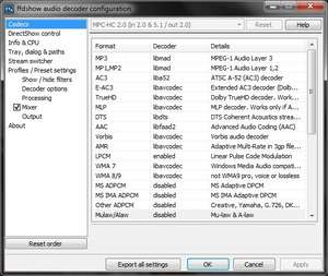 Video Codec - Screenshot for FFDSHOW (All in one codec)