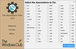 File Association Fixer Screenshot