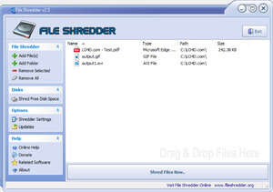 File Shredder Screenshot