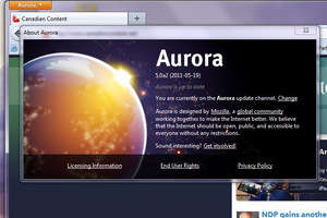 Internet Browsers - Screenshot for Firefox Aurora Beta