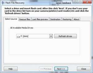 Flash File Recovery Screenshot