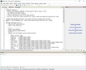 Programming Tools - Screenshot for FlashDevelop