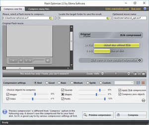Adobe Flasher Optimizer Screenshot