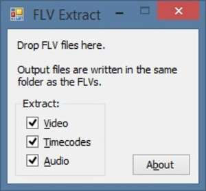FLV Extract Screenshot