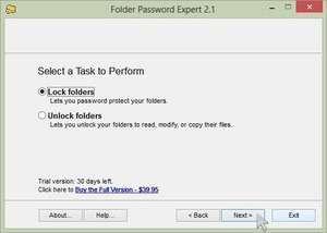 Folder Password Expert Screenshot