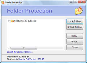 Folder Protection Screenshot