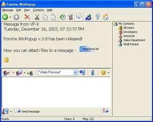 Fomine WinPopup Screenshot