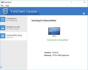 Antivirus Program - Screenshot for FortiClient