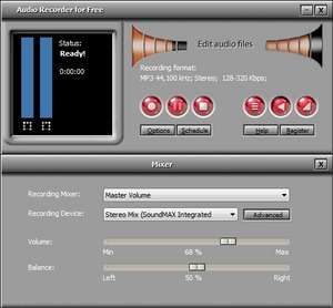 Audio Recorders - Screenshot for Free Audio Recorder