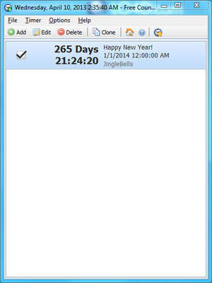 Clocks Organizers Calendars - Screenshot for Free Countdown Timer
