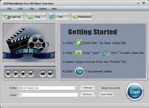 Media Converters - Screenshot for Free HD Video Converter
