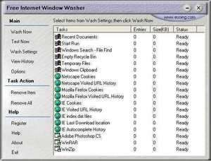 System Cleaners - Screenshot for Free Internet Window Washer