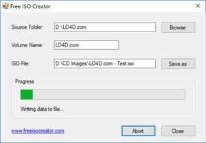 Free ISO Creator Screenshot