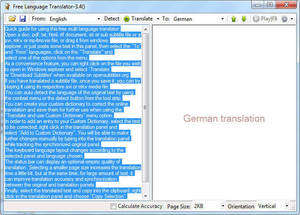 Language and Translator Programs - Screenshot for Free Language Translator