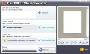 Free PDF to Word Converter Screenshot