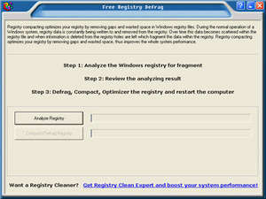 Registry Cleaners - Screenshot for Free Registry Defrag