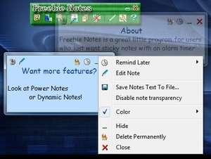 Organizers and PIM Software - Screenshot for Freebie Notes