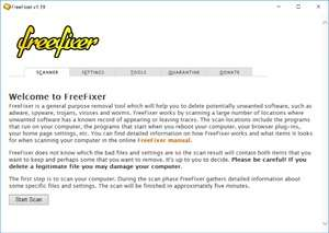 Install and Uninstall Tools - Screenshot for FreeFixer