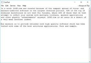 FreeText Portable Screenshot