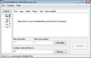 File Recovery Programs - Screenshot for FreeUndelete