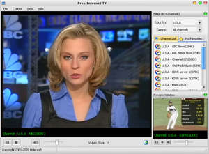 Internet TV Players - Screenshot for FreeZ Online TV