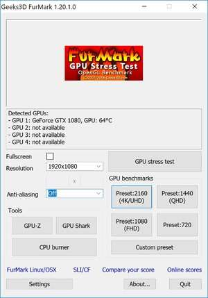 Benchmark Programs - Screenshot for FurMark