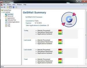 Firewalls - Screenshot for GeSWall