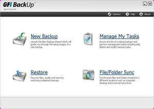 Backup Utilities - Screenshot for GFI Backup