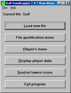 Golf Handicapper Screenshot